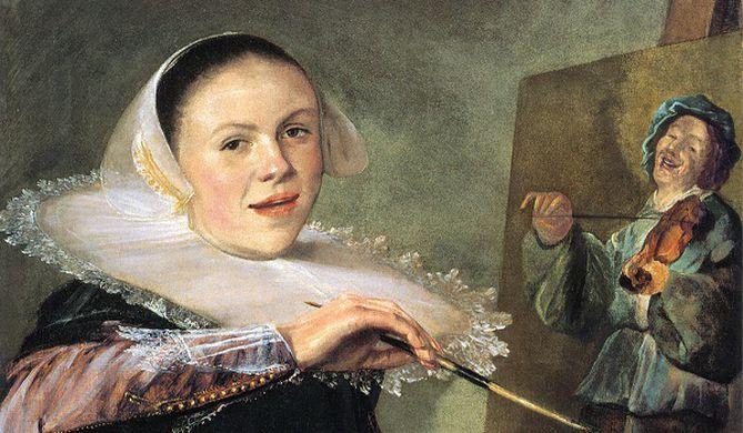 mujeres artistas, retrato de Judith Leyster
